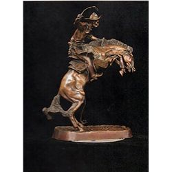 Bronze Sculpture - Bronco Buster by F. Remington