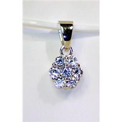 Lady's Antique Style Sterling Silver Diamond Pendant