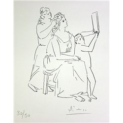 Pablo Picasso Hand Signed Limited Edition Drawing