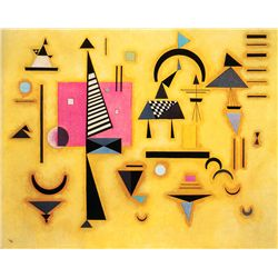 Decisive Pink - Kandinsky - Limited Edition on Canvas