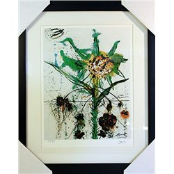 Salvador Dali Signed Limited Edition - Goddess Flower