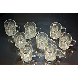 Clear Turkish Crystal glass set