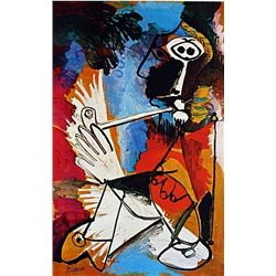 Limited Edition Picasso - Man With A Pipe - Collection Domaine Picasso