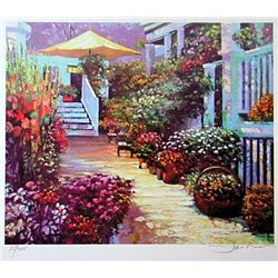 Jacobson Limited Edition Lithograph  Court Yard