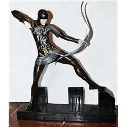 Signal Man - Bronze and Ivory Sculpture by Pierre Le Faguays