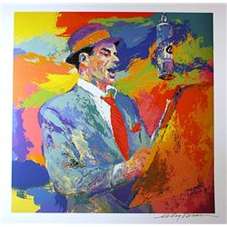 Leroy Neiman Double Signed Lithograph - Frank Sinatra-