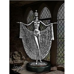 Lady Peacock - Limited Edition Real Silver Sculpture by Sergey