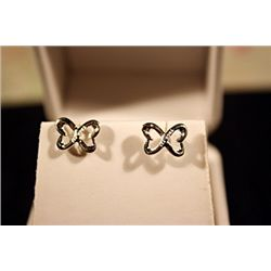 Lady's Fancy Tiffany Sterling Silver Double Heart Earrings