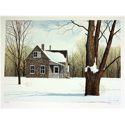 Helen Rundell Signed and Numbered Original Lithograph - North Fork