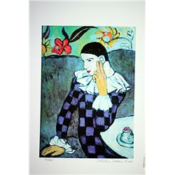 Picasso Limited Edition - Harlequin Leaning On His Elbow - from Collection Domaine Picasso