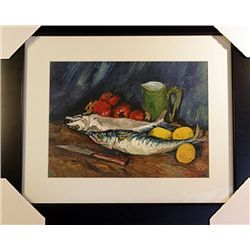 Vincent Van Gogh  Limited Edition-Still Life with Mackerel