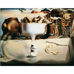 Apparition Of Face On A Fruit Dish - Dali - Limited Edition on Canvas