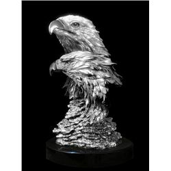 Original Fine Silver Sculpture - American Pride by De Lier