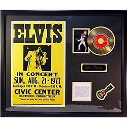 Elvis  Event Flyer with Gold Record