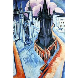 Ernst Ludwig Kirchner - The Red Tower in Halle - Limited Edition on Paper