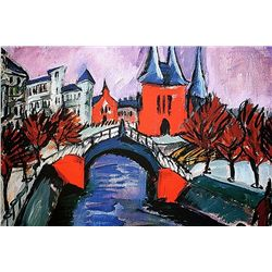 Ernst Ludwig Kirchner - Red Elizabeth Bank in Berlin - Limited Edition on Paper