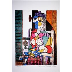 Picasso Limited Edition - Woman Seated By The Window - from Collection Domaine Picasso