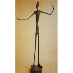 Lithograph by Alberto Giacometti    Man Pointing Lithograph 