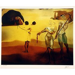 Salvador Dali Signed Limited Edition - Enchanted Beach