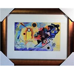 Wassily Kandinsky Limited Edition-Yellow Red and Blue