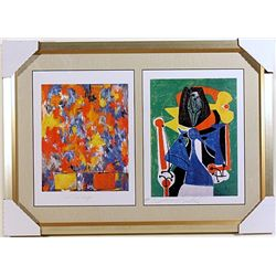 Jasper Johns and Pablo Picasso-Lithographs Set
