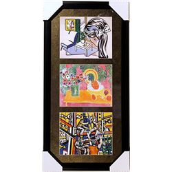 Lithographs Set by Lichtenstein, Mattisse and Leger