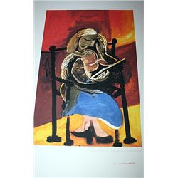 Limited Edition Picasso - Seated Woman Relaxing - Collection Domaine Picasso