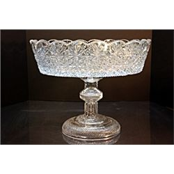 Clear Turkish Crystal Dessert Dish