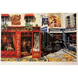 Renoux  Limited Edition Lithograph   Morning Café