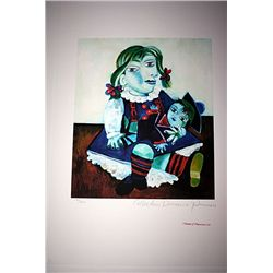 Limited Edition Picasso - Portrait of Maya With Doll - Collection Domaine Picasso