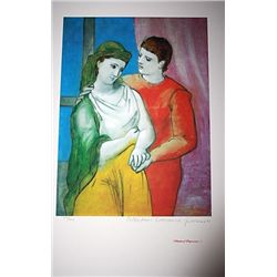 Limited Edition Picasso - The Lovers (Clothed) - Collection Domaine Picasso
