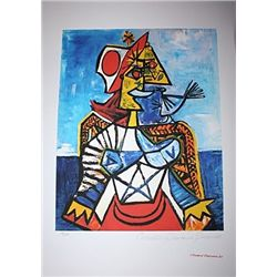 Limited Edition Picasso - Woman with Red and White Hat - Collection Domaine Picasso