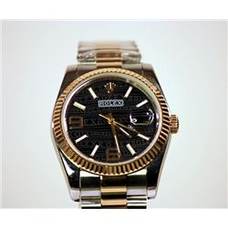 Two Tone Rolex-Repro Black Face
