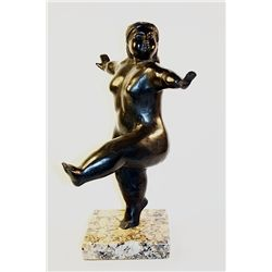 Botero   Original limited Edition Bronze Sculpture -Nude Dancer