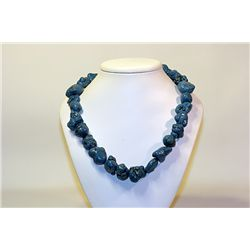 Unisex Beautiful  All Natural Stones  NV Blue Turquoise Necklace
