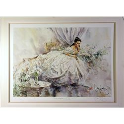 King Double Signed Photo Lithograph - Champagne and Silk