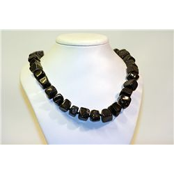 Unisex Beautiful  All Natural Sones  Black Lapis Necklace