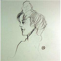 Original Hand Draw on paper  Signed Toulouse Lautrec