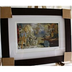 Salvador Dali Signed Limited Edition - The Apotheosis Of Homer