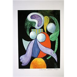 Picasso Limited Edition - Woman With A Flower - from Collection Domaine Picasso