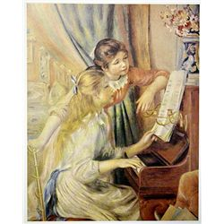 Two Girls at the Piano by Renoir