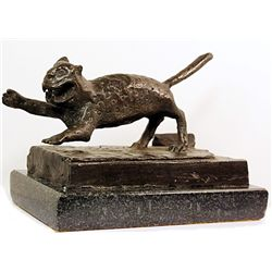 Rufino Tamayo  Original, limited Edition  Bronze - JAGUAR