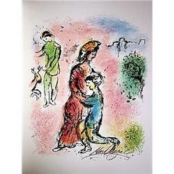 Ulysses Makes Himself Known by Chagall from the Odyssey Suite.