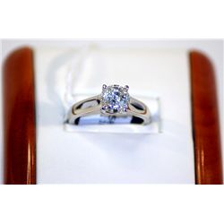 Lady's 14K White Gold,  Diamond Ring