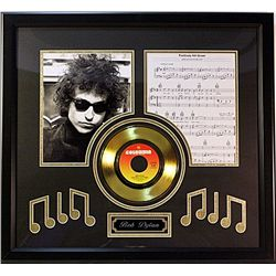Bob Dylan  Giclee with Gold Record and notes