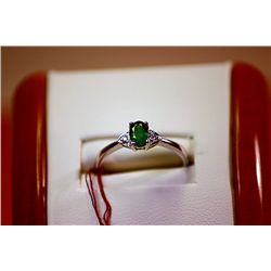 #123 - Fancy Ladys Columbian Emerald Ring