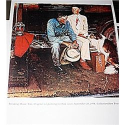 Norman Rockwell Lithograph-Breaking Home Ties