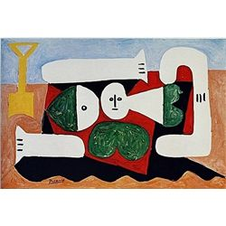 Limited Edition Picasso - Bather with a Sand Shovel - Collection Domaine Picasso