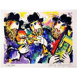 Hand Signed and Numbered Original Lithograph by Zamy Steynovitz - Celebration of Torah