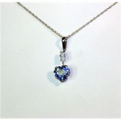 Lady's Fancy 14 kt White Gold White Tanzanite Necklace